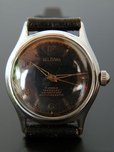 DELBANA MILITARY - Men's wristwatch from 1940s - Very rare.
