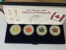 Canada. Maple Leaf Silver set 2007, Limited Edition 10.000 pieces