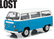 "Greenlight - Scale 1/18 - 1971 Volkswagen Type 2 ""Lost"" - Colour: Blue with white roof"