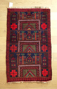 Beautiful Nomadic Ersari Rug from Afghanistan circa 2000 177 x 100cm IMMACULATE CONDITION