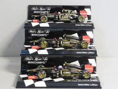 Minichamps - Scale 1/43 - Lot with 3 x Lotus Renault F1
