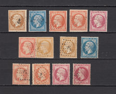 France 1853/1862 – Napoleon III – anchor cancelled stamp batch