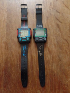 Lot of 2 watches - Game & Watch - Nintendo Super Mario Bros 3 - Nelsonic Black Jack