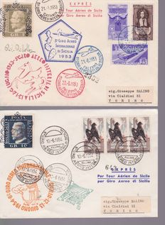Italy, 1950s, 60s, 70s, 80s, 2000s – Lot of 80, including FDC Italy first day covers, and commemorative envelopes.