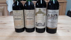 Chateau Martinens 1975 and 1981, Chateau Labegorce 1993 Chateau Canuet 1977, 4 bottles