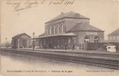 Belgium-48 x train station Leopoldsburg-La Station Bourg-Léopold-Original lot with cards of one and the same train station