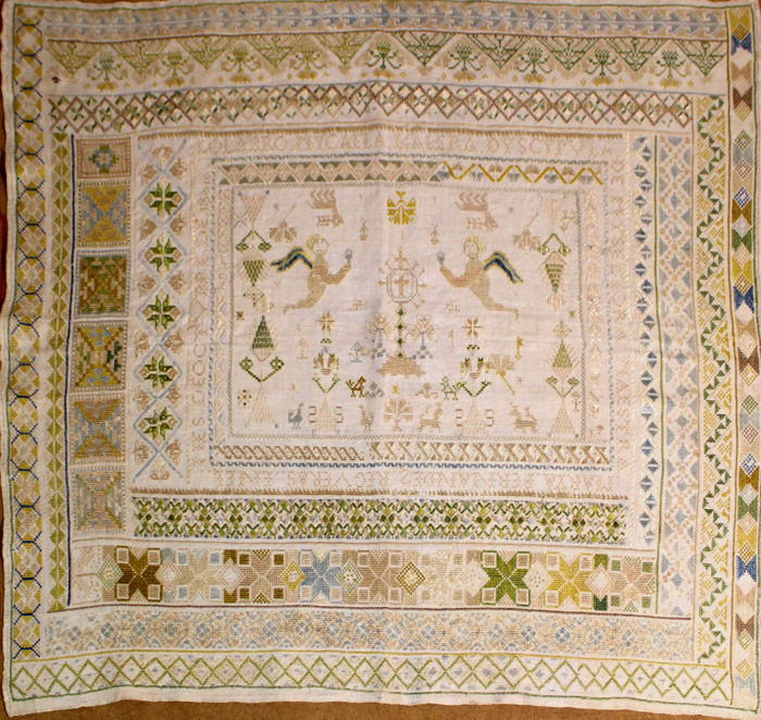 Sacred cloths - Embroidered - Linen cloth - Beginning of the 19th century