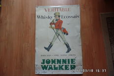 From the 60s - Johnny Walker whisky - metal advertising sign