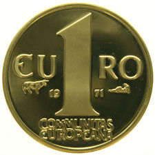 "The Netherlands – 1 Euro 1971 ""Communitas Europeana"" – gold"
