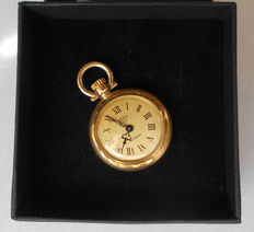 Axes – 18 kt gold – Swiss – Women's pendant watch – From the 1970s.