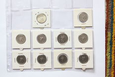 The Netherlands – Batch of coins, various, 1 cent through 5 guilder coins