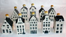 "10 KLM Delft Blue Business Class houses. (Bols) (including cottage 40, ""Tthe Red Hat"" in Amsterdam)"