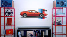 Painting on plexiglass - BMW M1