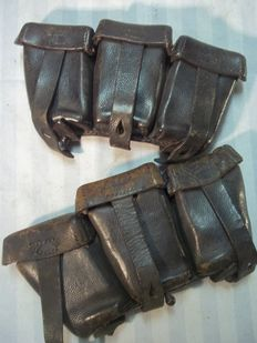 Set German MAUSER K-98 cartridge bags Wehrmacht pretty dated. 1940 -1941