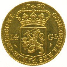 The Netherlands, Holland - 14 Guilders or Gold Rider 1750 (Restrike) - Gold