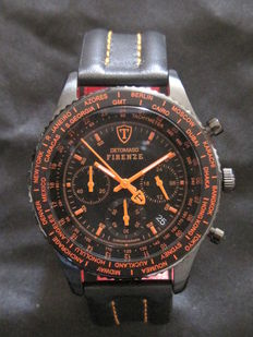 Detomaso Firenze Chronograph Black Orange - Wristwatch - New