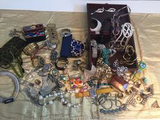 Large lot of costume jewelry and more