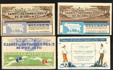 France 1927/1940 – 5 entire books - Spink n° 29, 60, 147, 233 & 246