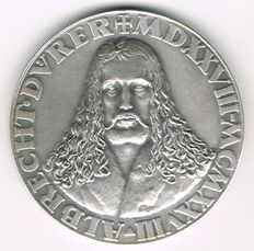 Germany, Weimar Republic - Silver Medal 1928 by K. Roth on 400th Anniversary of the Death Dürer Albrecht (1471-1528)