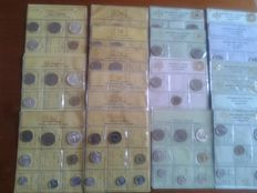 Republic of Italy - 1969/1977 - Lot of 20 divisional series, including silver coins