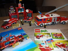 Universal Building Set / Classic Town - 735 + 6389 - Basic Building Set + Fire Control Center