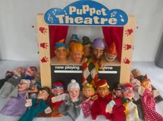 Mega large collection puppet dolls / puppets / Puppet show and original wooden puppetry - various countries with more difficult (rare) models.