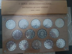 "Spain – I Iberoamerican Series – 1992 ""Encuentro entre dos mundos"" (Meeting between two worlds): – (14 coins) – Silver"