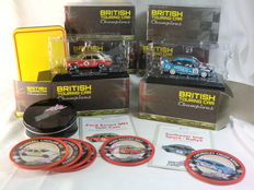 Atlas Editions - Scale 1/43 - Lot with 6 British Touring Car Champions with BTCC Coasters-Set, storage box & BTCC Video