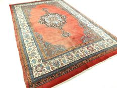 Semi antique Keshan - 225 x 140 cm - royal, Persian carpet - eye-catcher in beautiful condition.