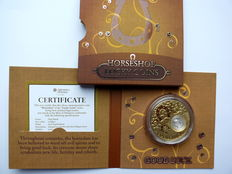 Niue - 2 dollars 2013 'Good Luck - Horseshoe' - gold-plated silver