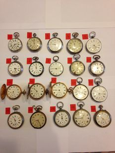 Lot of pocket watches - For men - 1890-1920