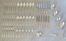 Christofle - 53 pieces Art Deco cutlery set - Palme pattern