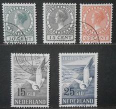 The Netherlands 1924/1951 - Exhibition stamps and air mail seagul - NVPH 136/138 + LP12/13