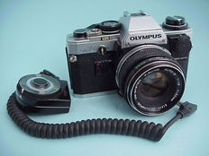 Olympus OM-10 with standard lens F.Zuiko Auto-S 1:1.8  f = 50 mm with Manual adapter and Remote Sensor