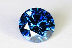 Blue diamond – 0.44 ct