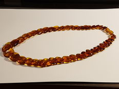 Vintage necklace made of Baltic Amber, 17.94 gram