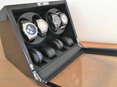 Premium + Watch winder for 4 automatic + 4 quartz watches NEW