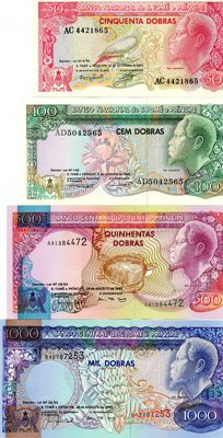 Saint Thomas and Prince - Complete Serie 50 - 100000 dobras - 9 banknotes
