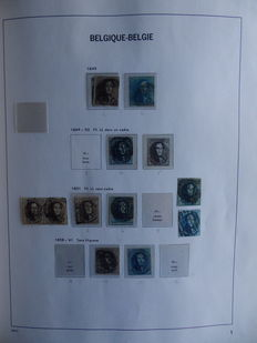 Belgium stamps collection in  Davo album.