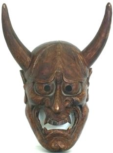 Outstanding Noh Mask of Hannya 般若 - Japan - early 20th century