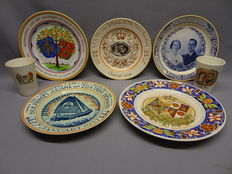 Lot with various Dutch Royal Family ceramics, Juliana & Bernard