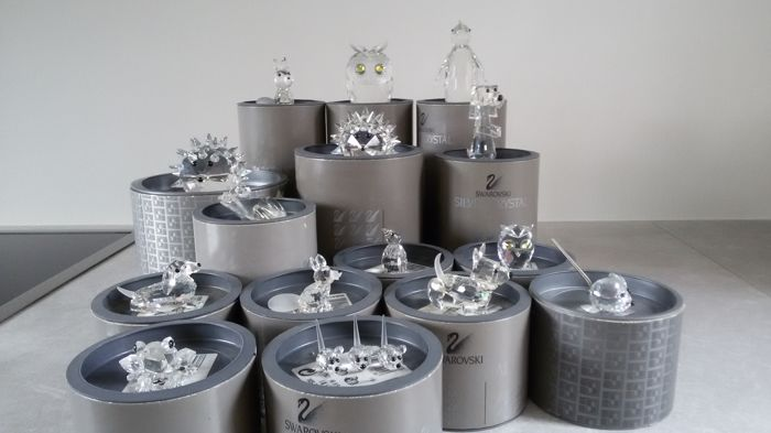 Swarovski - 15 Crystal Animal Figurines