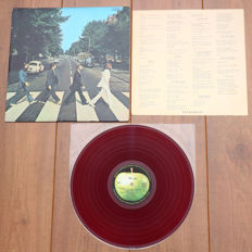 The Beatles- Abbey Road lp/ 1st Japanese pressing, 1969, RED wax & w. lyric sheet/ VG++