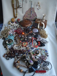 Large lot of stage jewelry.