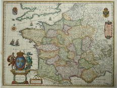 France; Willem Blaeu. - Gallia. Le Royaume de France-ca. 1630.