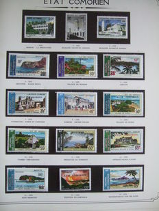 Comorian State 1975/1993 - Advanced page collection with airmail and blocks