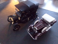 Franklin Mint - Scale 1/24-1/16 - Hispano Suiza Kellner H6B 1925 & Ford Model T