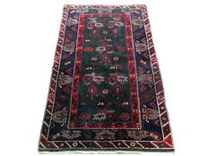 Beautiful oriental carpet:  Yadcebedir Dosemealti 197 x 119  cm circa 1950.