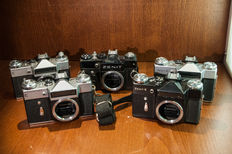 5 x Russian zenit SLR and Revueflex