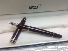 Montblanc Meisterstück n° 144 Bordeaux/Burgundy Fountain Pen 14K F Nib - Excellent Condition. With box and booklet.